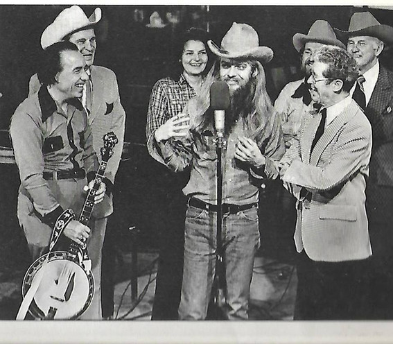 Leon, Earl Scruggs, Ernest Tubb, Jeannie Pruitt, Willie Nelson, Roy Acuff, and Bill Monroe