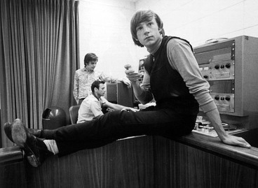 Peter Tork with Leon in the Background