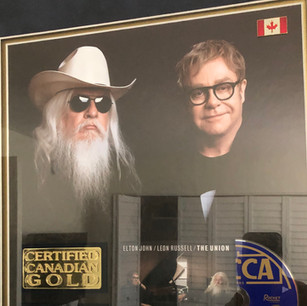 """Elton John and Leon Certified Canadian Gold for """"The Union"""""""