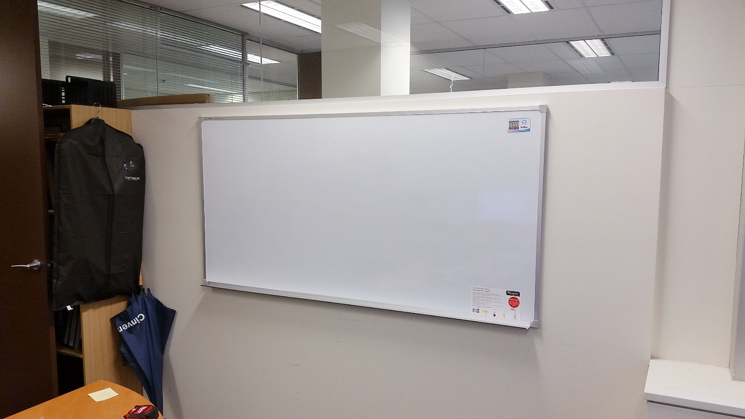 Wall Mounted Office Whiteboard Installation