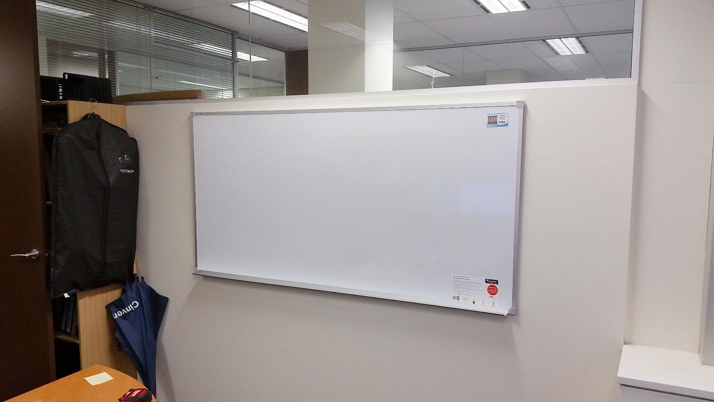 Wall Mounted Office Whiteboard Installation