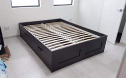 Bed With Storage Assembly