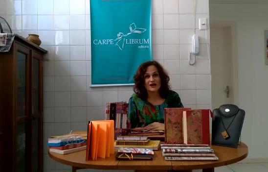 Oficina de cadernos artesanais na Casa de Jorge Amado - Flipelô 2019