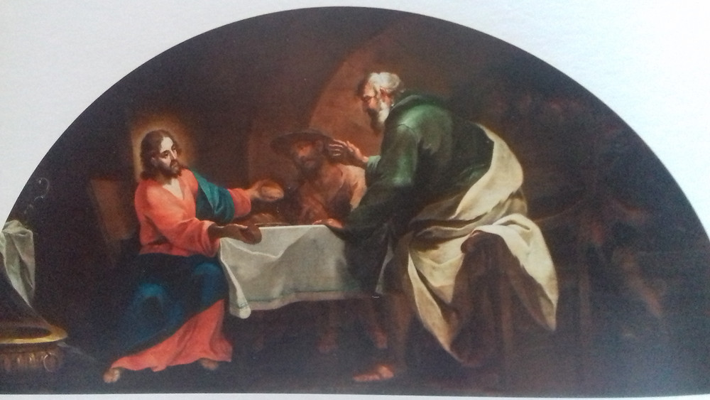 Painting of the Emmaus supper