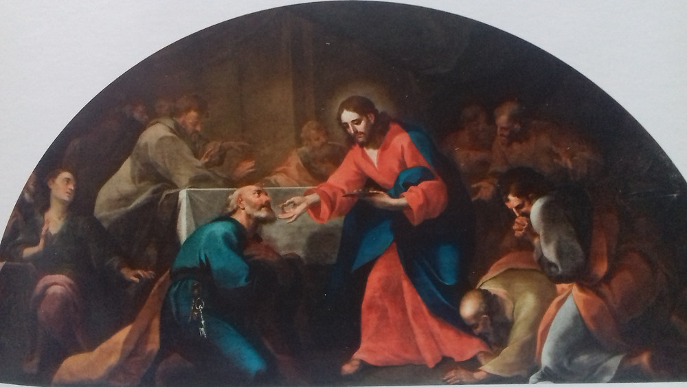 "Painting of the ""Institution of the Eucharist"""