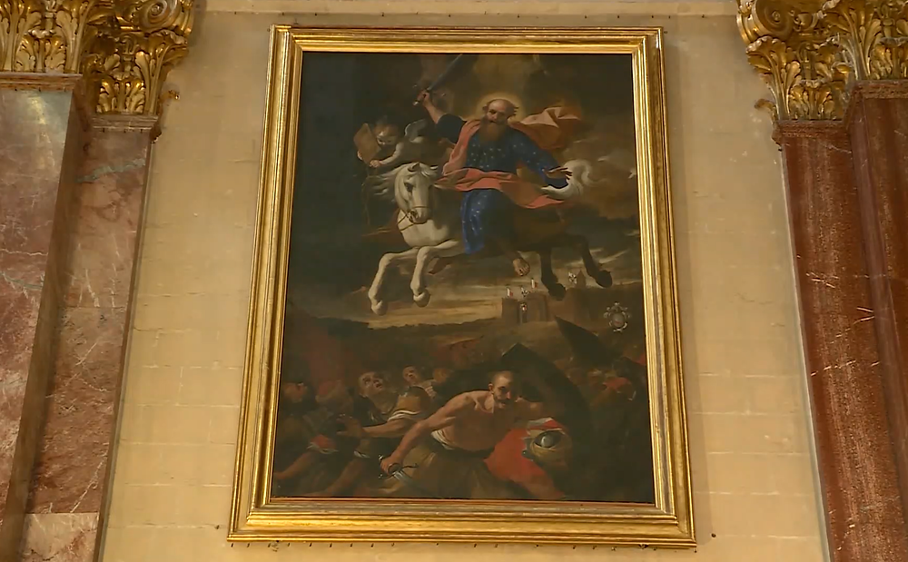 """Intercession of St Paul over the Moors"" painting"