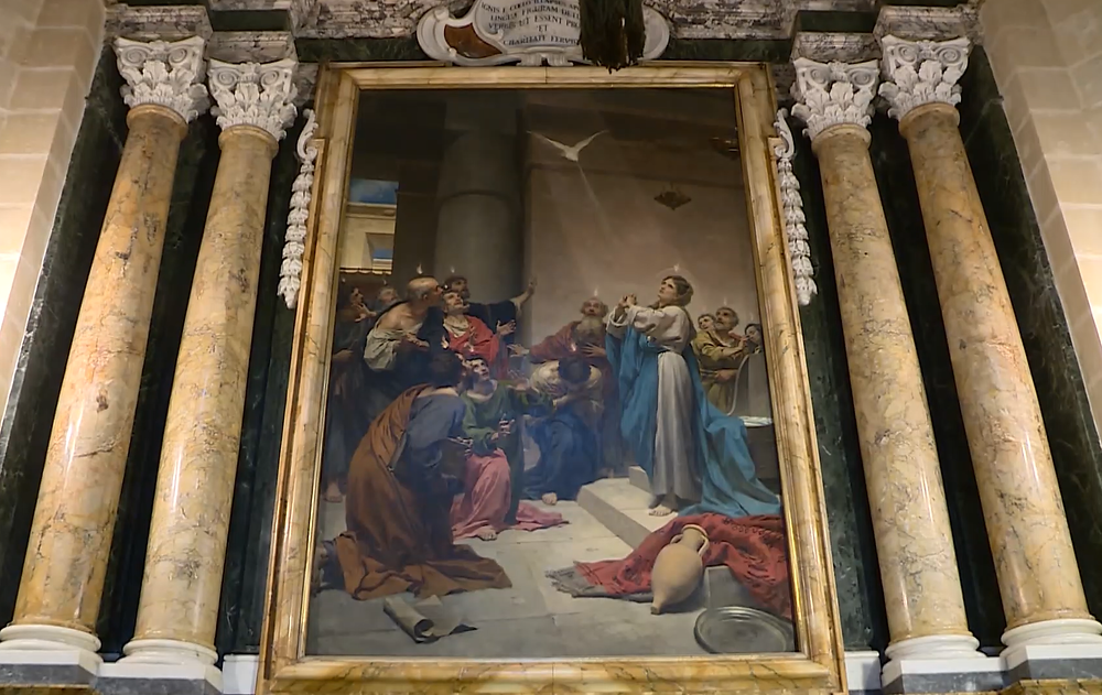 "Painting of the ""Descent of the Holy Spirit"""
