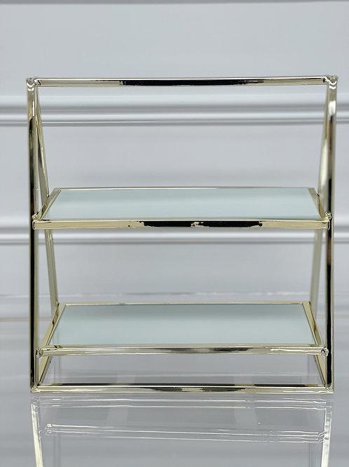 Golden Modern Cupcake Stand