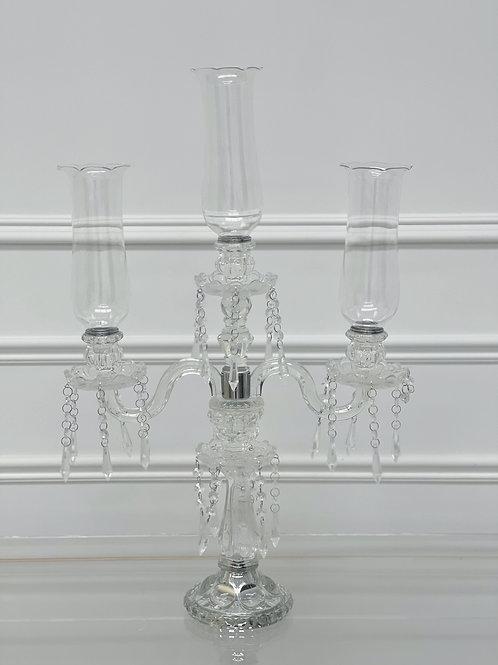 3 Heads crystal candelabra