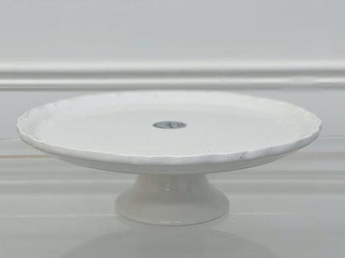 White Glaze Cake Holder