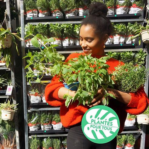 Ventes d'aromates BIO avec Plantes pour Tous (samedi)