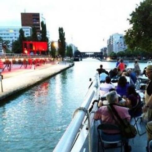Croisière Le canal de l'Ourcq, loisirs, agricultures urbaines et immersion au Jardin21 et Km25