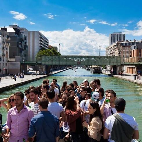"""Croisière Sonore """"Sofar Sounds x Jardin21"""" le long du canal de l'Ourcq avec Max Livio & Victor Mechanick"""
