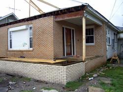 Foundation for porch 2