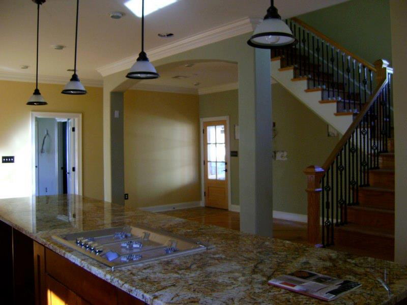 Kitchen, family room