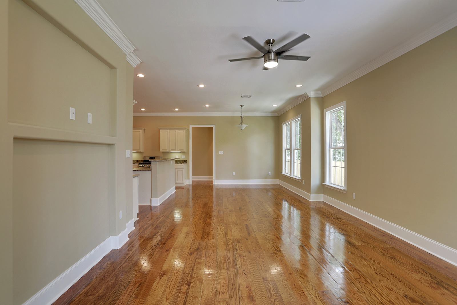 Family Room - Real hardwood floors throughout