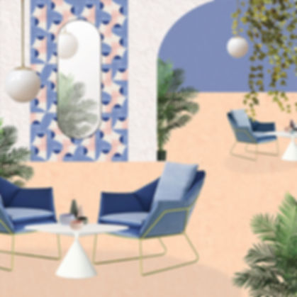 elisa passino home decor - tile design arco geometrie componibili