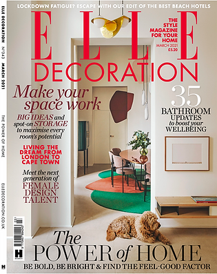 ELLE Decoratio UK - February 2021 COVER.