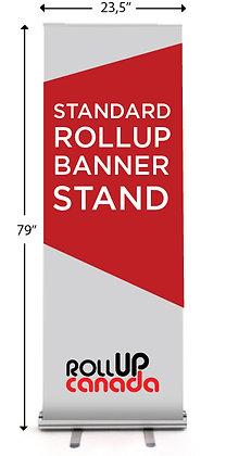 Standard 23.5'' x 79'' (stand + print)