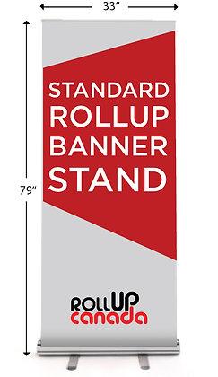 Standard 33'' x 79'' (stand + print)