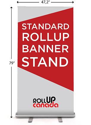 Standard 47'' x 79'' (stand + print)