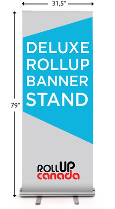 Deluxe 31,5'' x 79'' (Stand + banner)