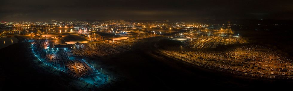 Royal Portbury Dock by night