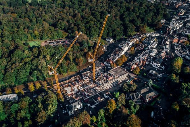 Pantiles construction site