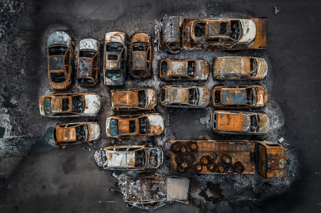 What the fire left behind