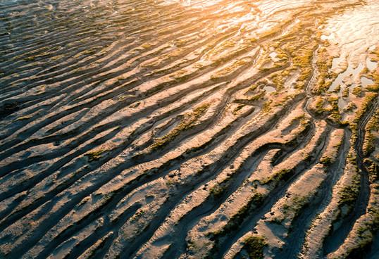 Clevedon coastline as the sun sets