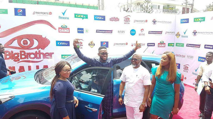 Miracle received his N25M cash prize and a new SUV