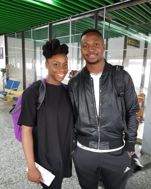 The comedian Funnybone engages Chimamanda Ngozi Adichie in a chat abroad.
