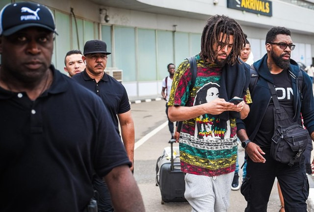 J-Cole in Lasgidi
