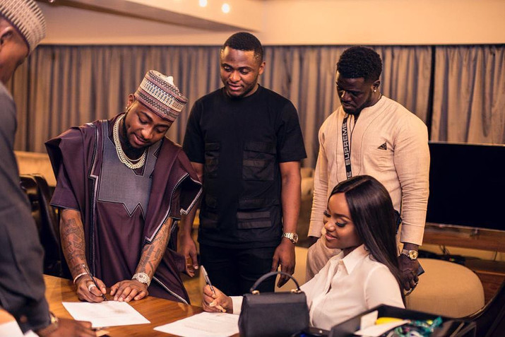Davido's Girlfriend Chioma inks a New Deal