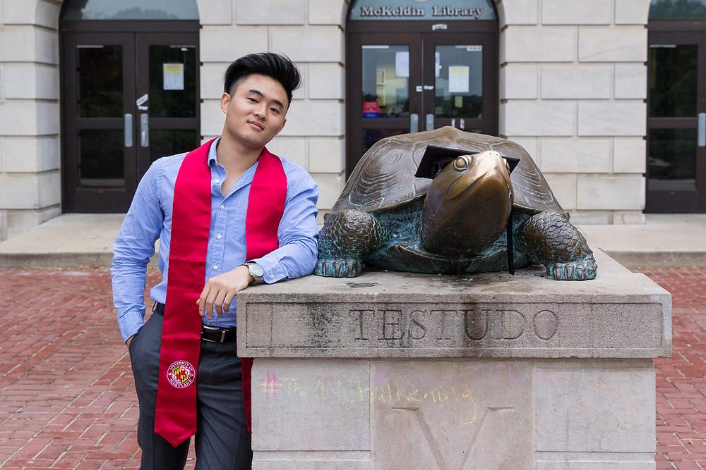 Testudo UMD portrait graduation Maryland