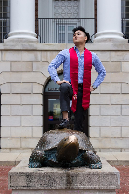 Testudo UMD portrait graduation