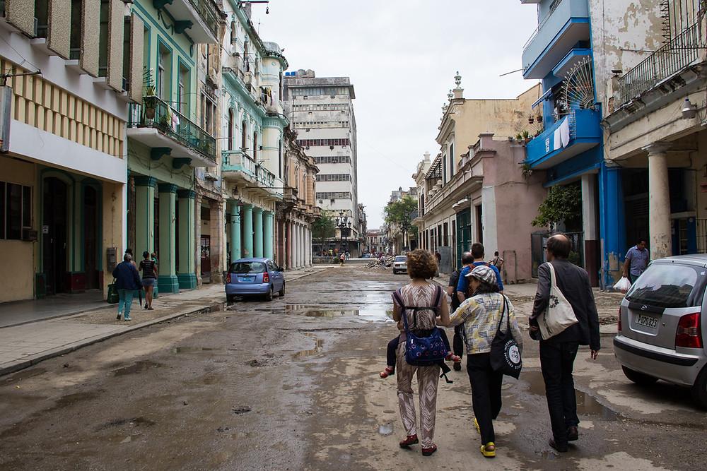 Walking in Old Havana
