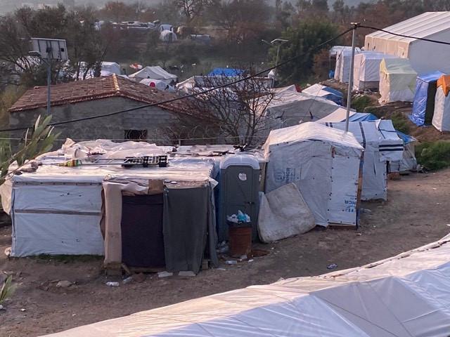 Makeshift Shelters in Vial Refugee Camp