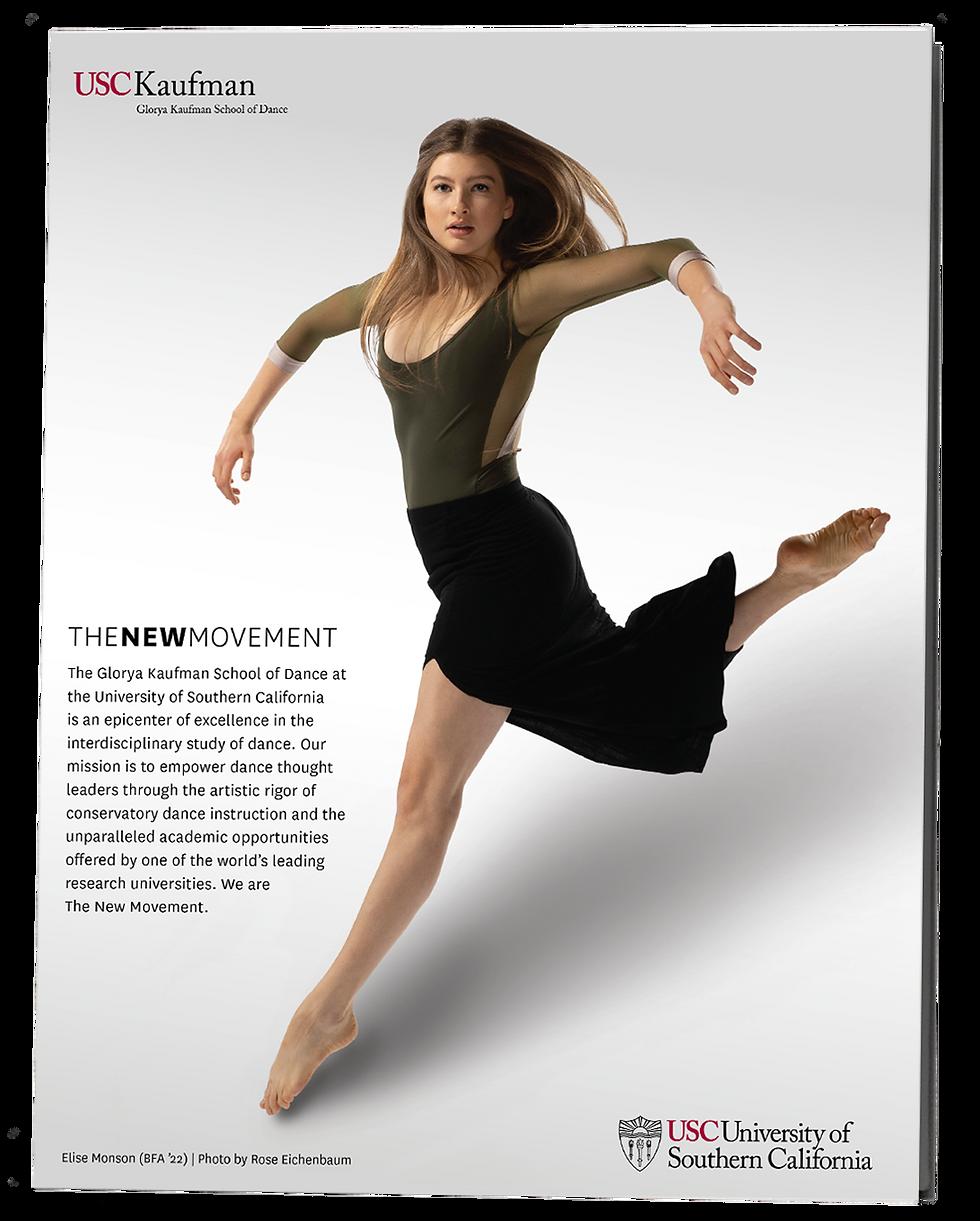 Poster of dancing woman.