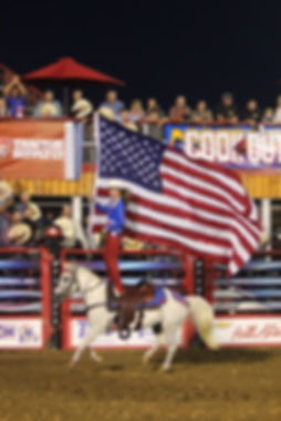 Cashlyn Lovell carrying the flag for Jerome Davis PBR