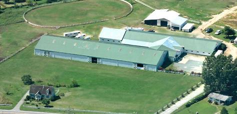 Cash Lovell Stables Farm Overhead Photo