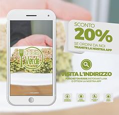 SCONTO del 20%Ordina velocemente tramite la nostra App! Scaricala cliccando qui sotto:  http://bit.ly/forchettaverdeù