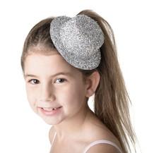 STUDIO 7 -Silver Glitter Hat Hairpiece Clip