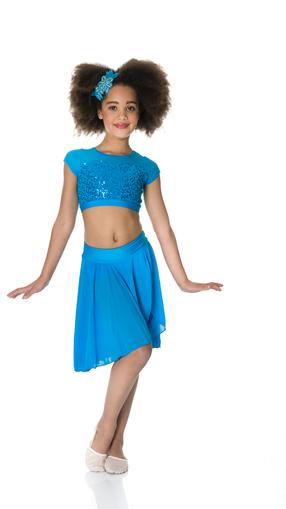 STUDIO 7 - Inspire Mesh Skirt & Sequin Crop Top