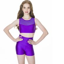 STUDIO 7 - High Waist Shorts and Mesh Crop Top