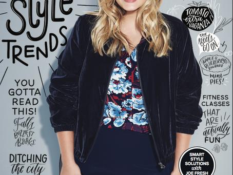 Dernier Cover de Justine LeGault Pour Chatelaine Magazine