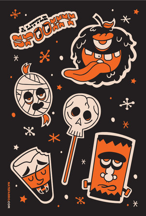 Spooky Stickers Illustration
