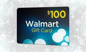 Win a $100 Walmart Gift card.....