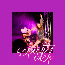 """Burlesque Chair Dance with """"Sisters Getting Real"""", choreographed by Mama Ulita."""