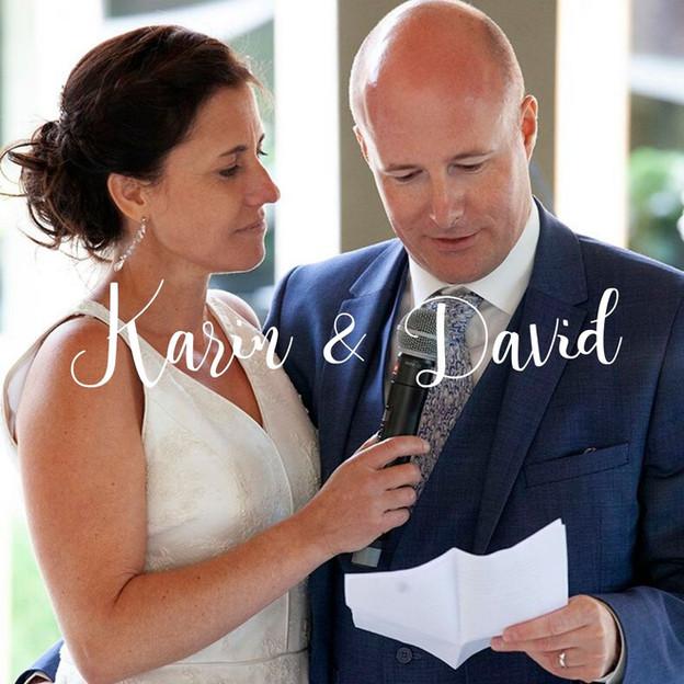 Huwelijksceremonie Karin en David